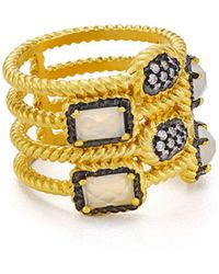 Freida Rothman - Gilded Stone Cage Ring - Lyst
