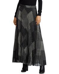Ralph Lauren - Lauren Printed Pleated Maxi Skirt - Lyst