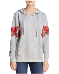 Aqua - Embroidered Patch Hooded Sweatshirt - Lyst