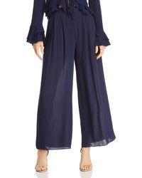 Aqua - Pleated Wide-leg Trousers - Lyst