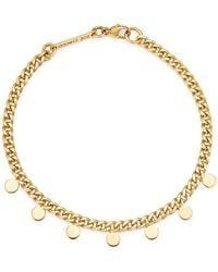 Zoe Chicco - 14k Yellow Gold Itty Bitty Dangling Discs Curb Chain Bracelet - Lyst