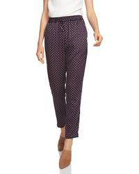1.STATE - Daisy Foulard Drawstring Trousers - Lyst