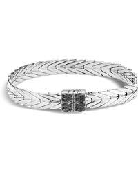 John Hardy - Sterling Silver Modern Chain Bracelet With Black Spinel - Lyst