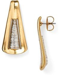 Robert Lee Morris - Spun Triangle Drop Earrings - Lyst