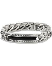 David Yurman - Maritime Curb Link Id Bracelet With Black Onyx - Lyst