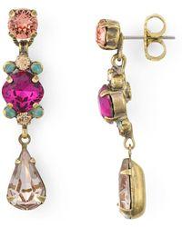 Sorrelli - Saffron Linea Drop Earrings - Lyst
