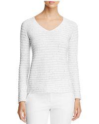 Armani - Sequin Striped Sweater - Lyst