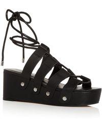 Rebecca Minkoff Women's Iven Platform Wedge Sandals - Black