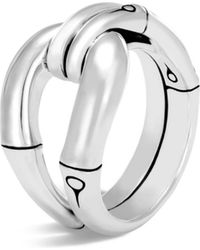 John Hardy - Sterling Silver Bamboo Loop Ring - Lyst