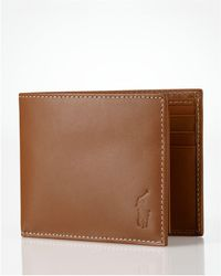Ralph Lauren - Polo Burnished Leather Passcase Wallet - Lyst