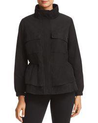 Donna Karan - New York Lightweight Zip-front Peplum Jacket - Lyst
