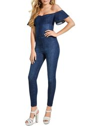 5b7a06bfd48d Lyst - Women s Guess Full-length jumpsuits Online Sale