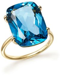 Bloomingdale's - London Blue Topaz Statement Ring In 14k Yellow Gold - Lyst