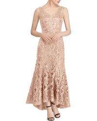 Ralph Lauren - Lauren Fluted Lace Gown - Lyst