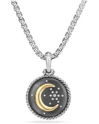 David Yurman - Cable Collectibles Moon And Star Diamond & 18k Gold Amulet - Lyst