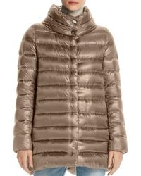 Herno - Stand Collar Down Coat - Lyst