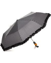 Bloomingdale's Ruffle Dot Umbrella - Black