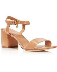excellent free shipping how much Tory Burch Embossed Leather Ankle Strap Sandals discount countdown package get authentic online cheap sale purchase knsOf4XE