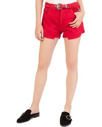 The Kooples - Western Buckle Denim Shorts - Lyst