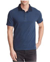 W.r.k. - Leaf Print Polo Shirt - Lyst