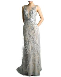 Basix Black Label Embroidered Evening Gown - Metallic