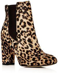 Sam Edelman - Women's Case Leopard Print Calf Hair High-heel Booties - Lyst