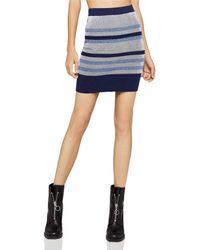 BCBGeneration - Rib-knit Striped Skirt - Lyst