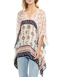 Vince Camuto - Printed Poncho Top - Lyst