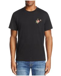 7 For All Mankind - Floral Graphic Crewneck Short Sleeve Tee - Lyst