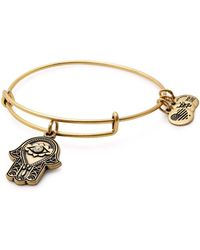 ALEX AND ANI - Hand Of Fatima Expandable Wire Bangle - Lyst