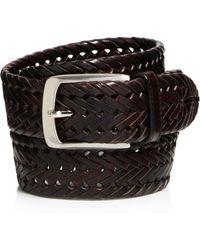 Trafalgar - Enzo Braided Leather Belt - Lyst