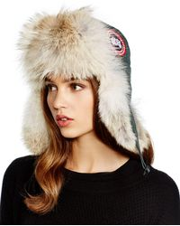 Canada Goose Fur-Lined Aviator Hat - Black