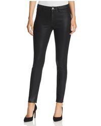 Elie Tahari - Azella Coated Skinny Jeans In Black - Lyst
