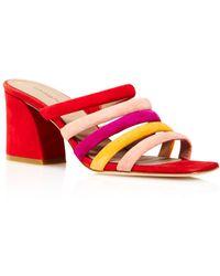 Donald J Pliner - Women's Wes Color-block Suede High-heel Slide Sandals - Lyst