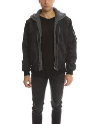 R13 - Hooded Flight Jacket - Lyst