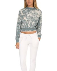 Cotton Citizen - Milan Crop Crew Sweatshirt - Lyst