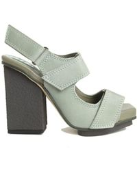 Acne   Strapped Block Heel Sandals   Lyst
