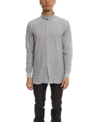 Naked & Famous - Long Shirt Lightweight Hairline Stripes - Lyst