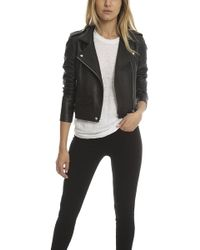 IRO - Pixy Leather Jacket Black - Lyst