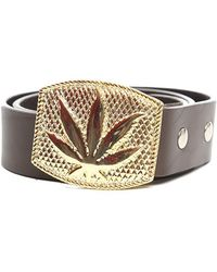 Lucien Pellat Finet - Gold Leaf Buckle Belt - Lyst