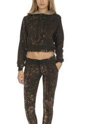 Cotton Citizen - Milan Cropped Hoodie Army Dust - Lyst