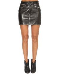 FRAME - Studded Mini Skirt - Lyst