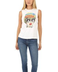 RE/DONE - Kisses For Revenge Muscle Tank - Lyst