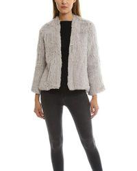 H Brand - Emily Rabbit Fur Jacket - Lyst