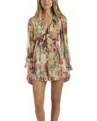 Zimmermann - Melody Floating Playsuit - Lyst