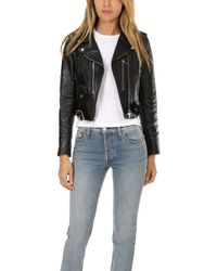 RE/DONE - Originals Leather Moto Jacket - Lyst