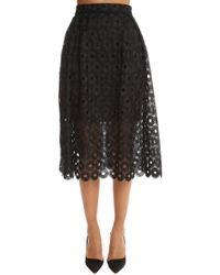 Nicholas - Spot Lace Ball Skirt - Lyst