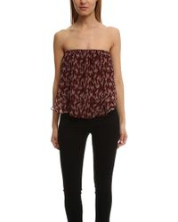 Elizabeth and James - Pippa Ikat Strapless Top - Lyst