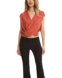 L'Agence - T Lee Cross Front Blouse - Lyst