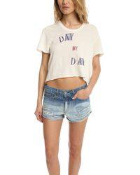 Via Spare - Day By Day Crop Tee - Lyst